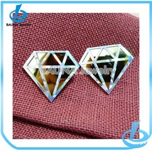 Wholesale fashion diamond shape happy back earring backs