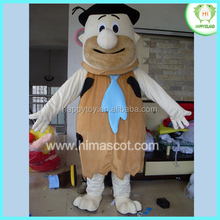 HI CE factory price plush adult flintstones fred mascot costume for sale