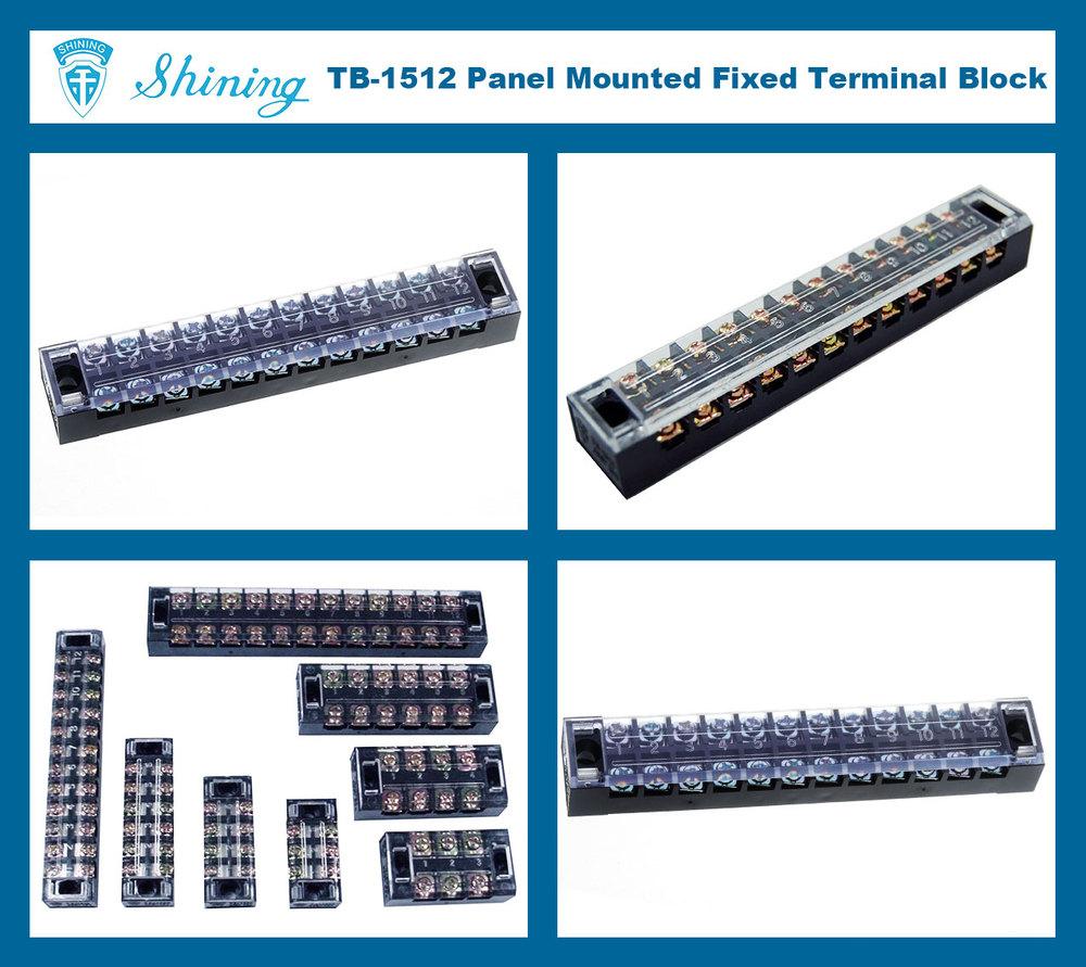TB-1512 600V 12 Pole 15A Low Voltage Terminal Block