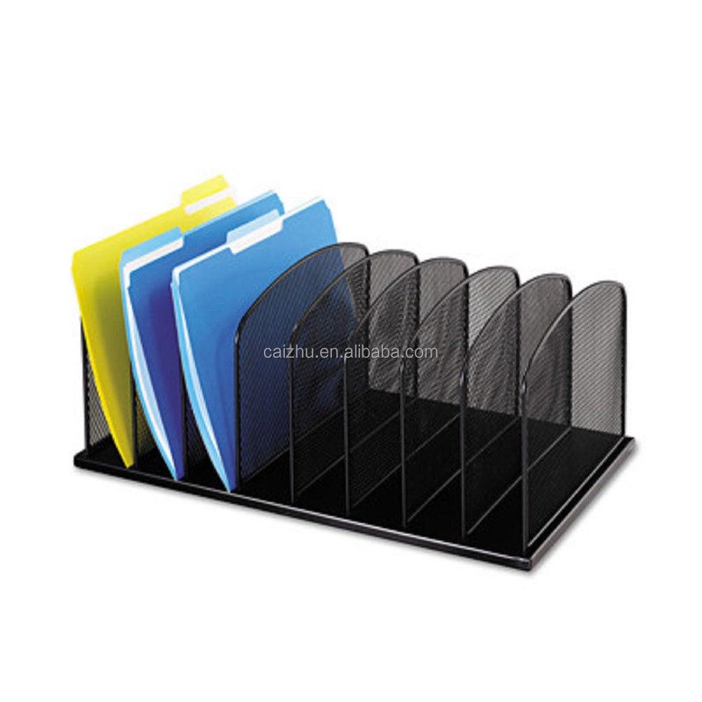 Black Steel Mesh Office Desk Organizer Folders,Desk File Paper