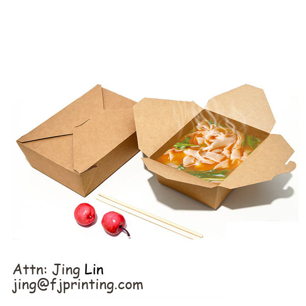 Chinese Town Take Out Food Noodle Soup Paper lunch Box
