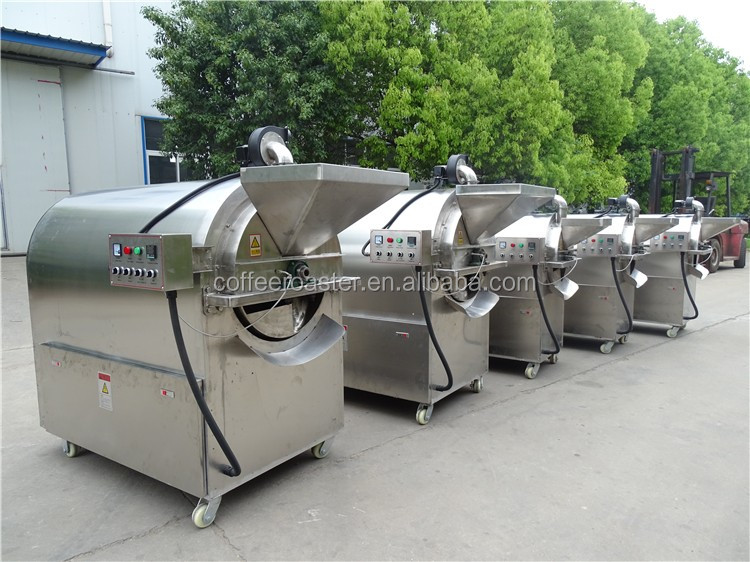 LQ-150X Almonds roaster 150kg Electric Automatic commercial Pistachio nut Roasting Machine chestnut roasting machine