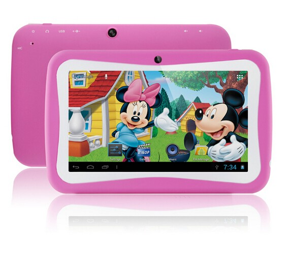 Products in demand 2017 hot kids tablet for children /7 inch Kids Tablet PC RK3126 Quad Core 8G ROM