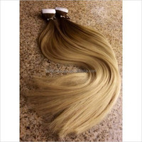 5 star quality ombre remy seamless double tape human hair extensions 40pcs