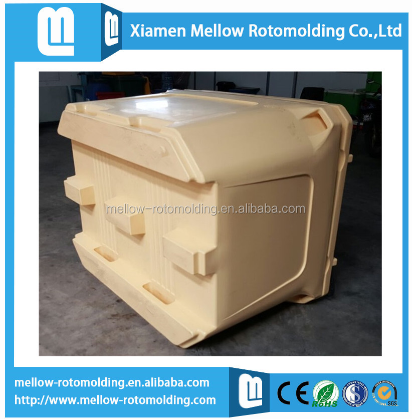Rotomolding insulated fish cooler box
