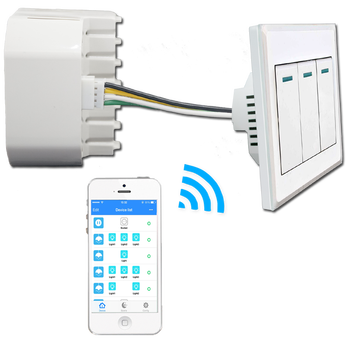 Connect Lanbon WIFI switch module change normal switch into WIFI smart  light switch Android/Iphone app control, View WIFI switch module, LANBON