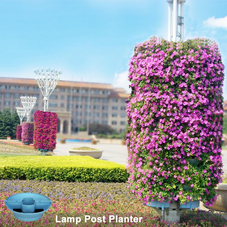 Light Pole Post Lamp Flower Pot Vertical Garden