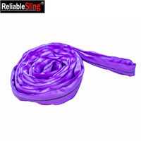 Color Coded Endless Polyester Sling Lifting Round with 2 Woven Covers