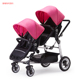 KDS hot sell double baby stroller with high quality twins kids pushchairs cheap baby twin carriage