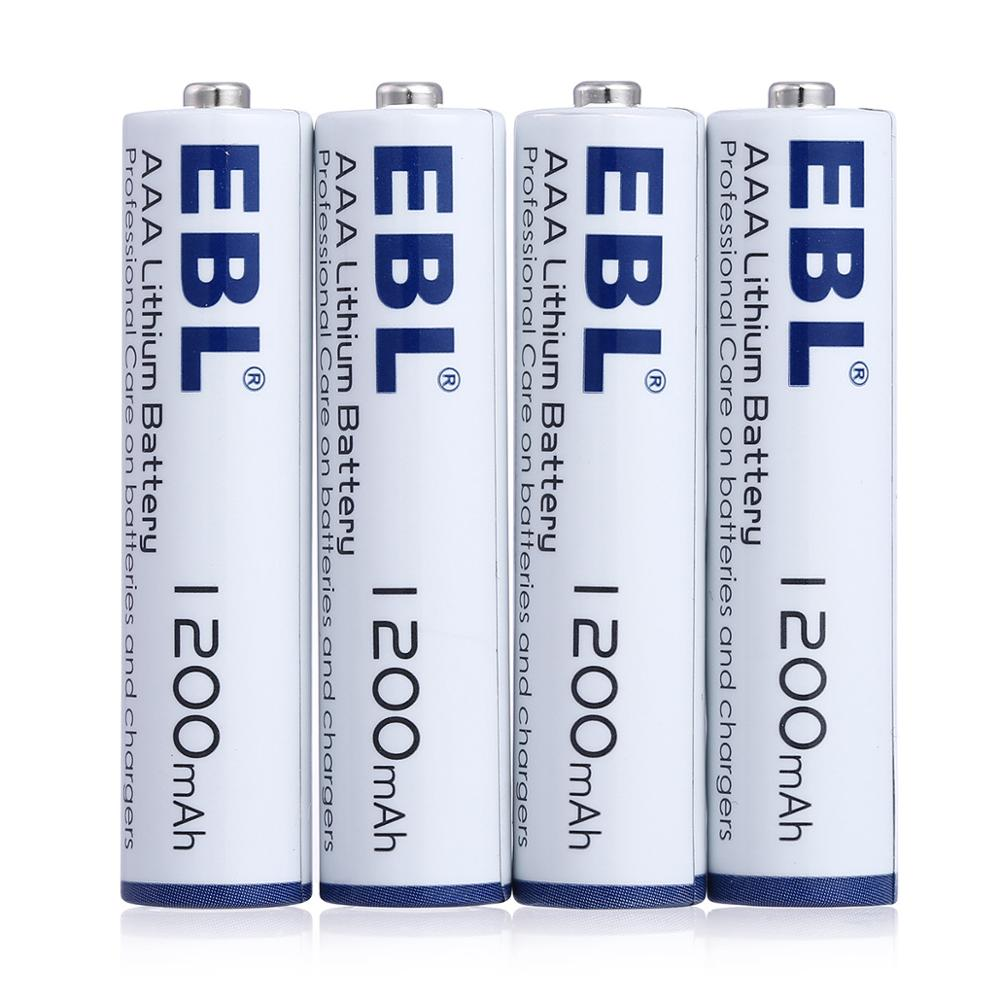 EBL 1.5V AAA Lithium Lon Battery High Capacity 1200mAh AAA battery