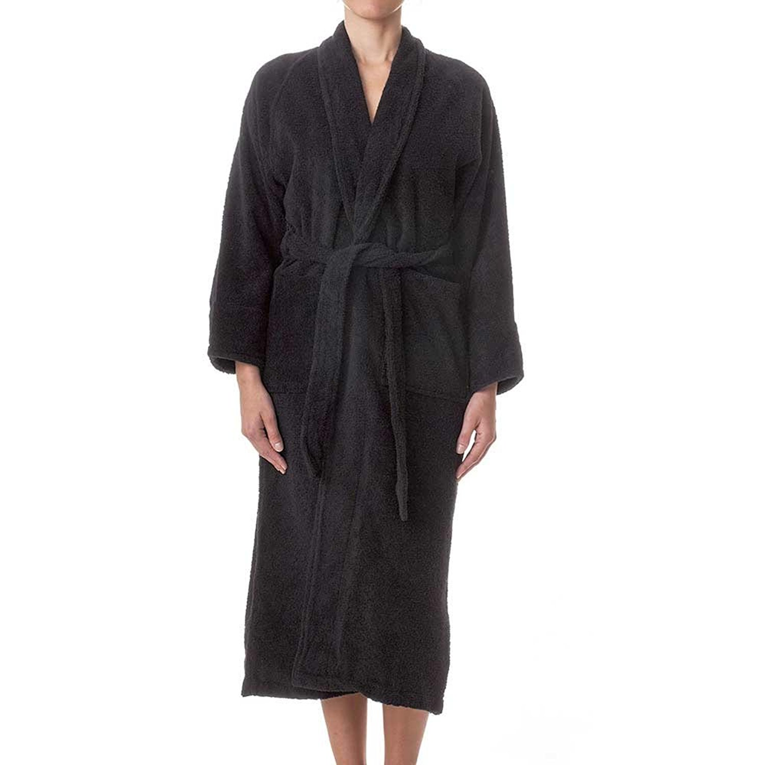 6058eadfdb Get Quotations · Unisex Terry Cloth Bathrobe- 100% Long Staple Cotton  Hotel Spa Robes - Classic