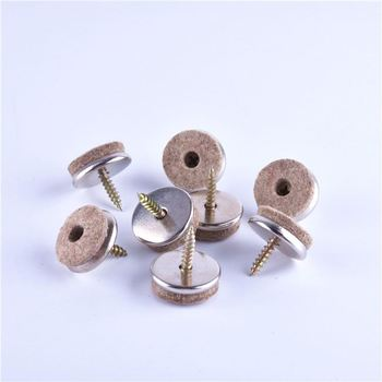 Most Popular Different Types Durable Brown Sliding Felt Pads With Screw  Furniture Sliders