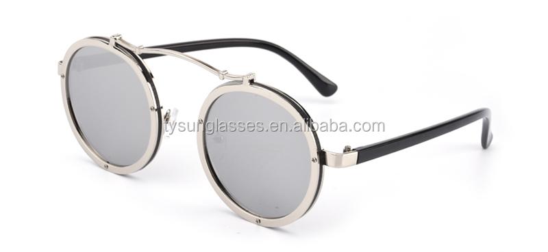 893bfe5f3c 2017 Gothic Steampunk Sunglasses Men Women modern Metal Wrap Round Shades  Brand Designer Sun Glasses Mirror