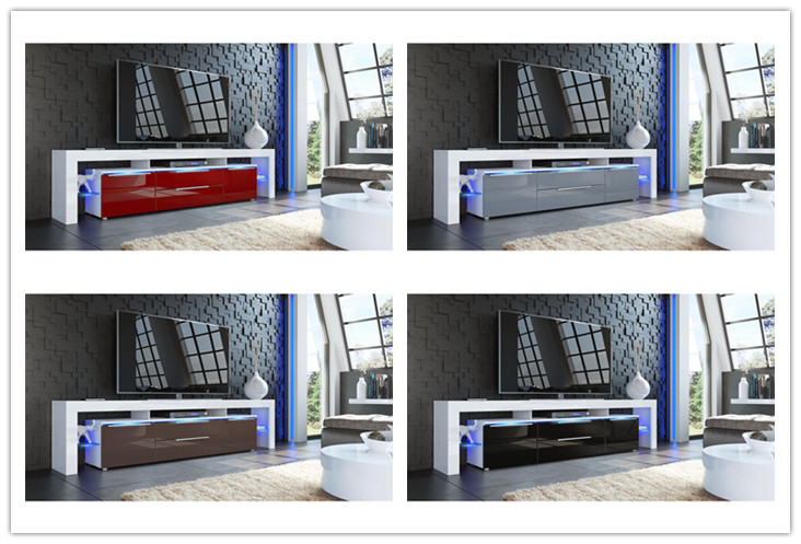 New Modern High Gloss LCD Wooden TV Stand Furniture Designs