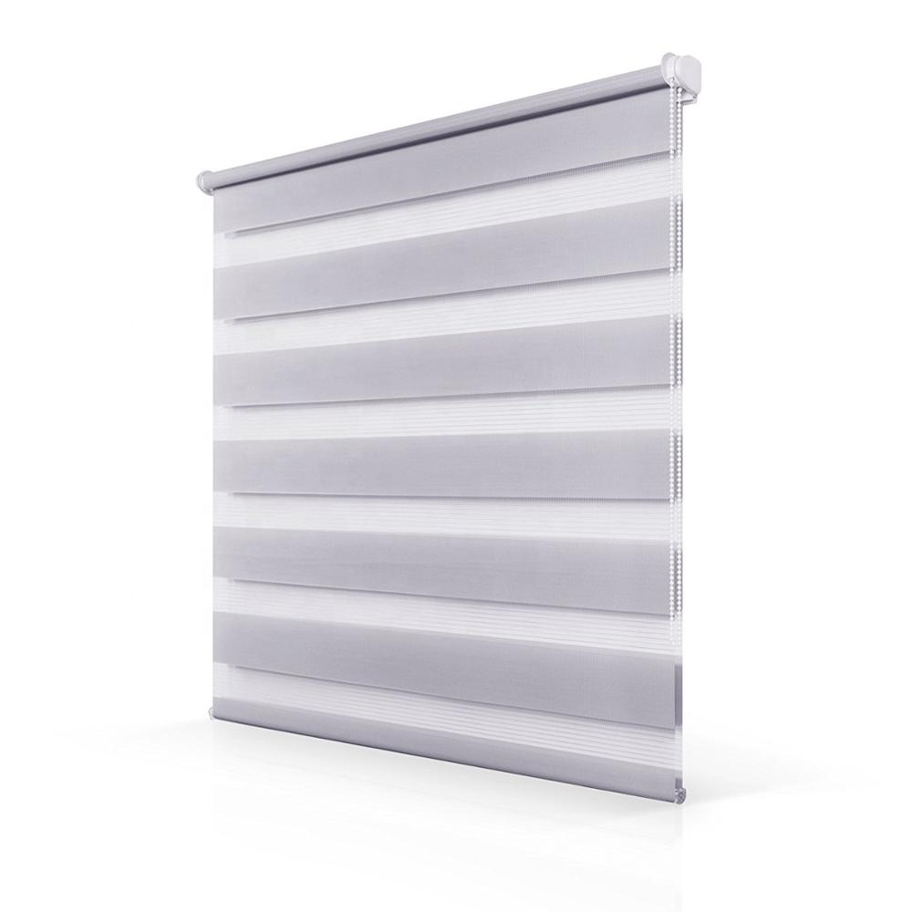 Horizontal Window Shade Easy Fix No Drilling Day and Night Indoor Window Zebra Dual Roller Blind