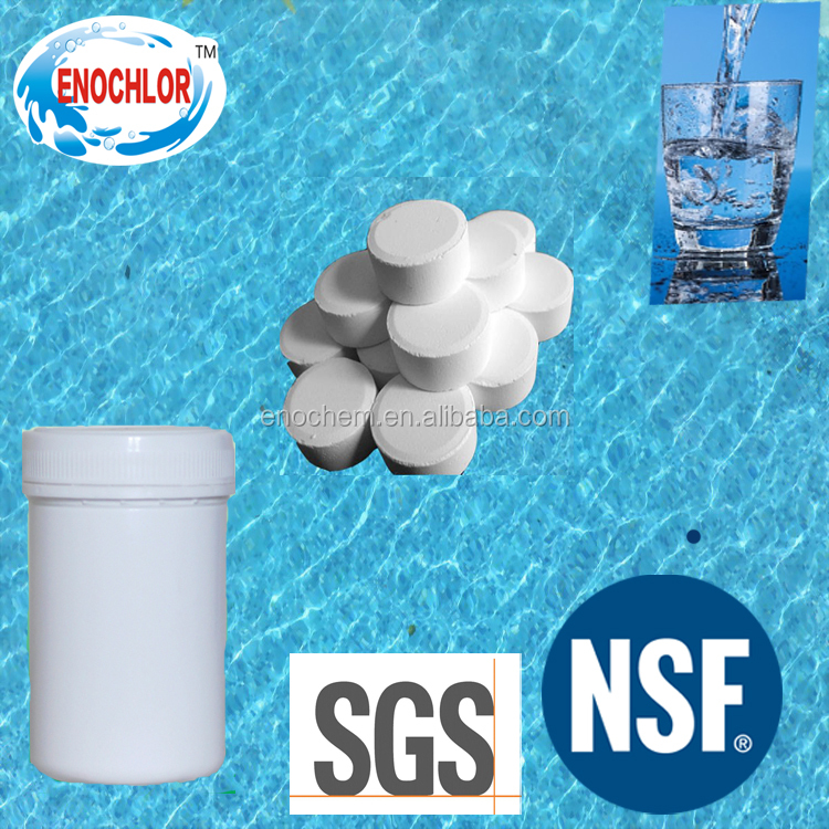 bulk chlorine water treatment chemical calcium hypochlorite 70% tablet in sodium process