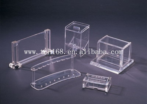Square Acrylic Display Stand Name Card Holder Office Business Card ...