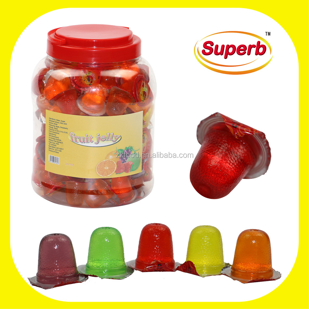 Candy Jar Soft Assorted Mini Jelly Fruit Cup