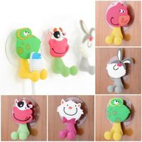 2015 Free shipping cute Cartoon sucker toothbrush holder suction hooks bathroom set accessories Eco-Friendly