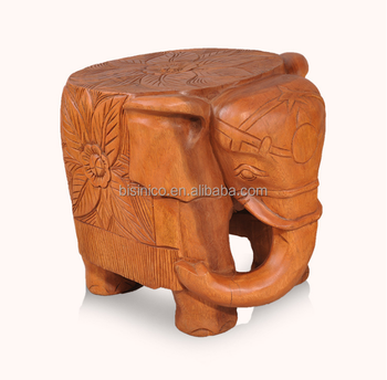 Thailand Style Living Elephant Shape Little Chair,Solid Wood Handcarved  Chairs For Shoes Changing (bf01-x1176) - Buy Carved Wood Chairs,Living Room