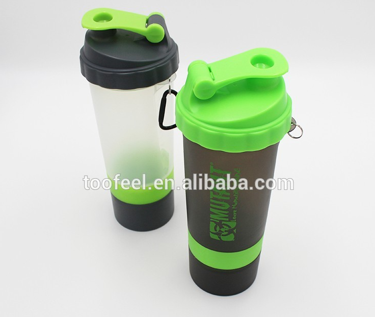 protein shaker bottle powder storage bpa free joyshak water bottle