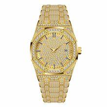 MISSFOX, Новое поступление, ролевые часы для мужчин, роскошный бренд, топ, мужские золотые наручные часы, Ar, высокое качество, бриллиантовые, рол...(Китай)