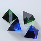 MH-JT0011 3d crystal pyramid glass pyramid paperweight