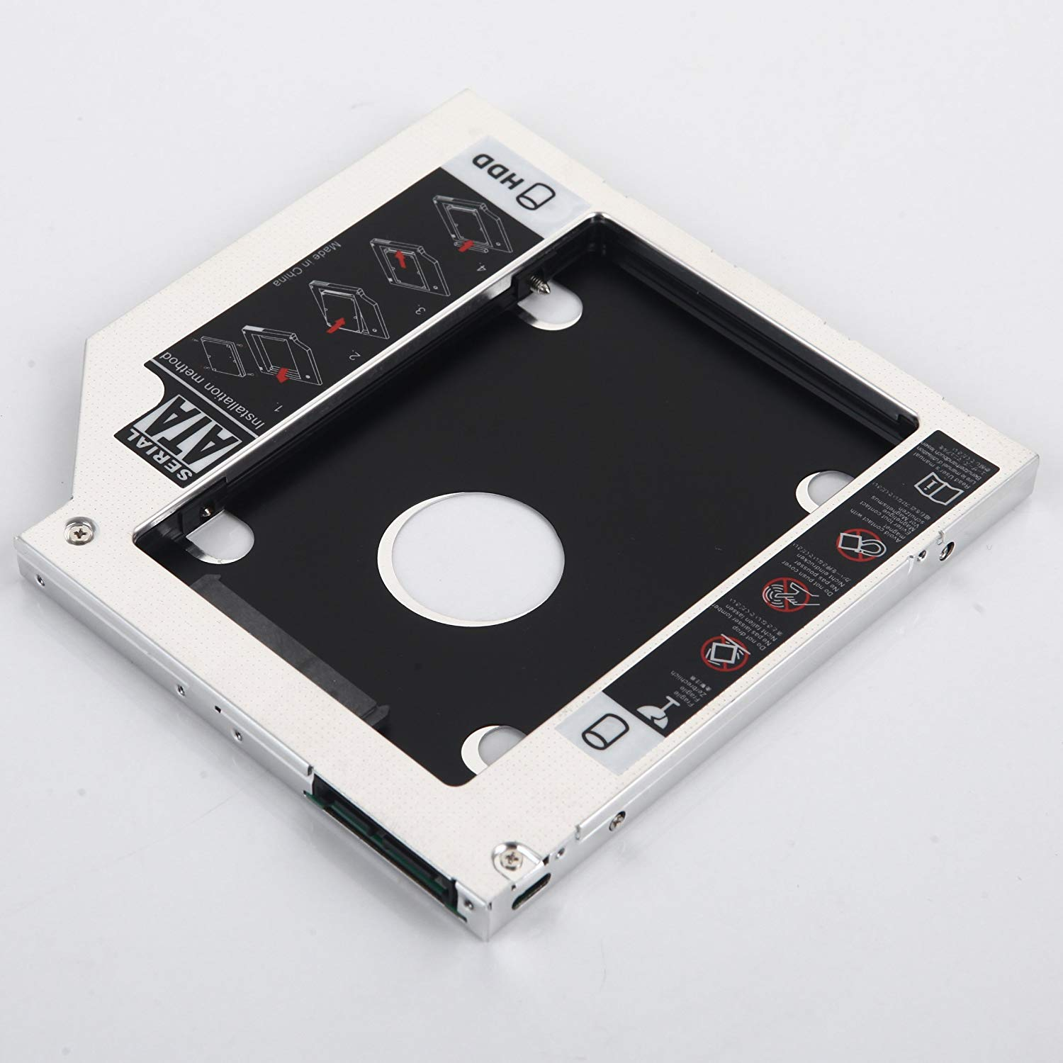 DY-tech 2nd HDD SSD Hard Drive Case Caddy Adapter for HP 15-r001nc 15-n217nf 15-n203ed