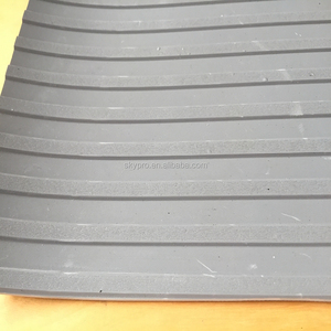 SBR Manufacturers Safety Slip Mat Smooth Surface Wide Ribbed 8mm Thin Black Rubber Sheet