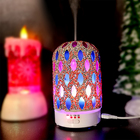Okey-la Mosaic Glass gemstone decoration humidifier usb aroma ultrasonic diffuser usb With Amazing LED Lights