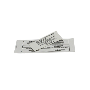 Eco Friendly Care Instruction Printed Size Labels Baby Clothing