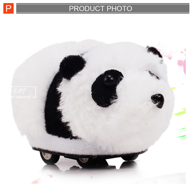 2017 High quality rc panda plush toy with battery for sale