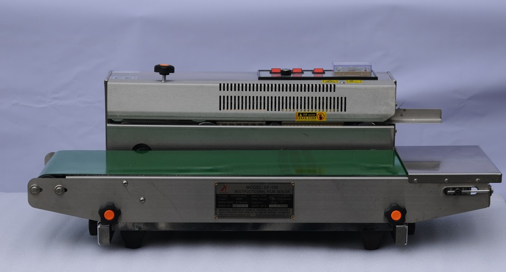 SF-150 series Continous band sealer without ink roller CE certificate Horizontal/ Vertical double-use Film bag Sealing Machine