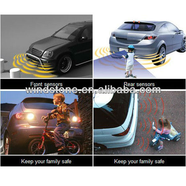No drill No hole Car Electromagnetic Sensor Strip for BACK