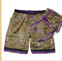 New rock republic size 100% polyester super cute sweethearts beach shorts with Leopard print