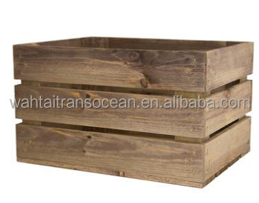 Small rustic wooden crate,farmhouse decor, shabby decorative indoor planter, storage