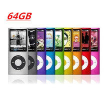 Slim 1.8′ 4th gen 9Colors for choose mp3 64GB player Music playing time 10Hours mini fm radio ebook video player