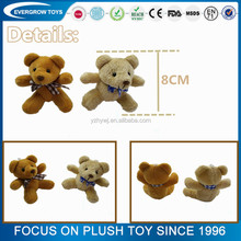 Promotional cheap mini teddy bear/Stuffed teddy bear keychain