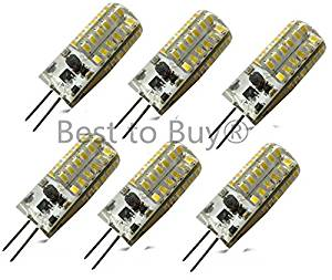 Best to Buy® (6-PACK) Brightest 3-Watt GY6.35 LED Bulb 12V AC/DC, 48 SMD 3014 LED, 3W Warm White Color (Jc10 Bi-pin 20W Replacement)