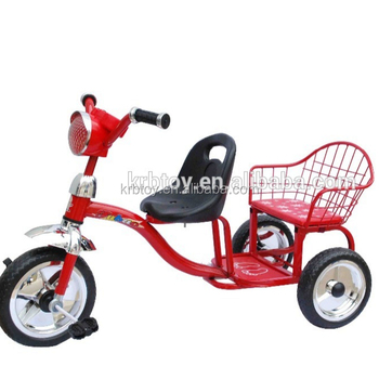 1008 Kids Double Seat Tricycle/Kids Tricycle with Back Seat