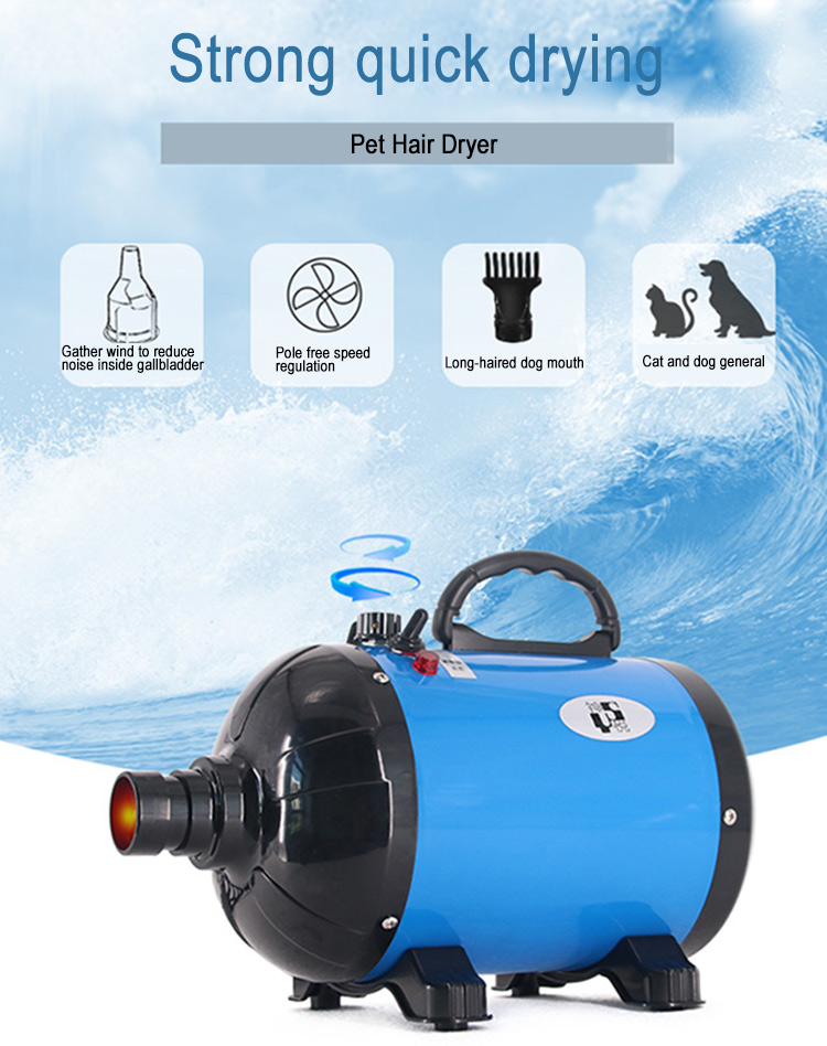 professional dog grooming blow dryer Dog Hair Dryer 2800W Speed Adjustable