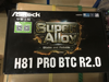 Brand New ASRock H81 PRO BTC R2.0 Super Alloy Cryptocurrency Mining Motherboard