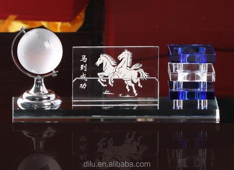 Wholesale Custom Acrylic Crystal Glass Pen Holders Handmade Gift Charming Pen Holder Vase