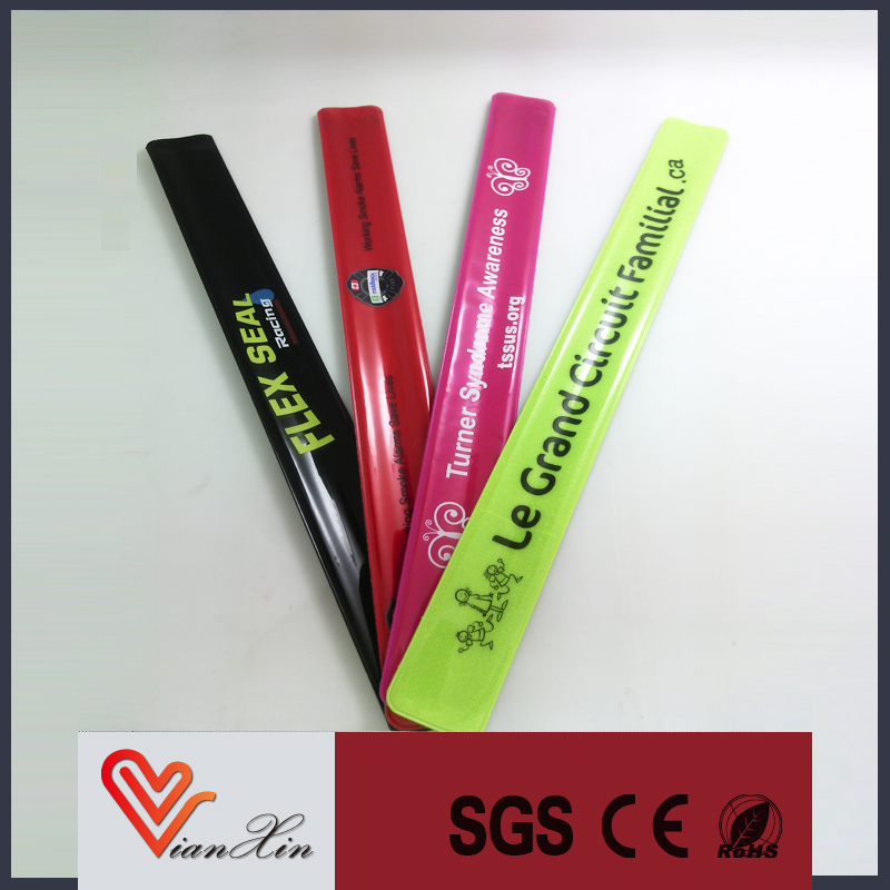 slap and snap reflective wristband for gifts