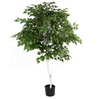 Artificial UV Birch Tree for Office House Decor Indoor Outdoor Green color tree 1.2m