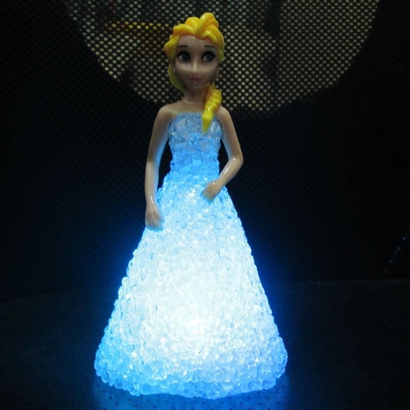 2017 New Kids Toys Elsa/ Anna Led Colorful Lights Gradient Crystal ...