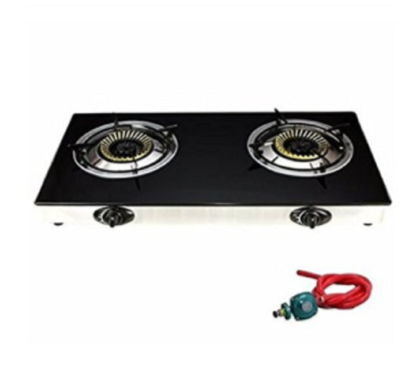 USA Premium Store 2 Burner Stove Gas Propane Range Tempered Ignition Camping Outdoor Glass Cooktop