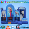 Frozen inflatable slide bounce house for sale, hot sale inflatable slide jumping house