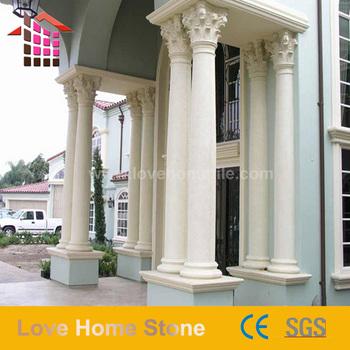 Hot Handmade Round Stone Pillar