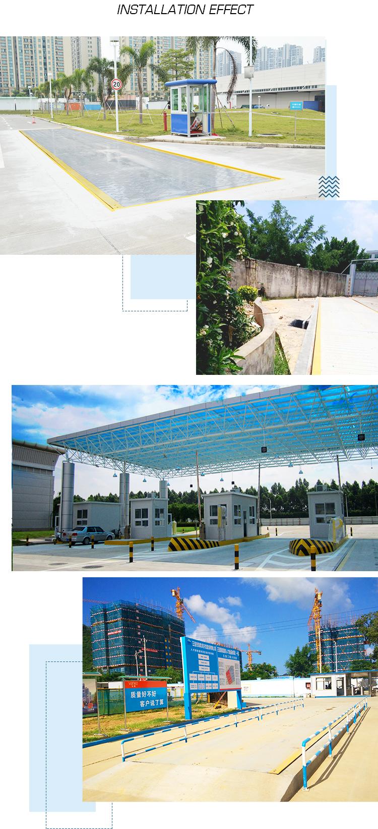 3x18m 100ton حفرة نوع وزن الجسر الإلكترونية المركبات الميزان